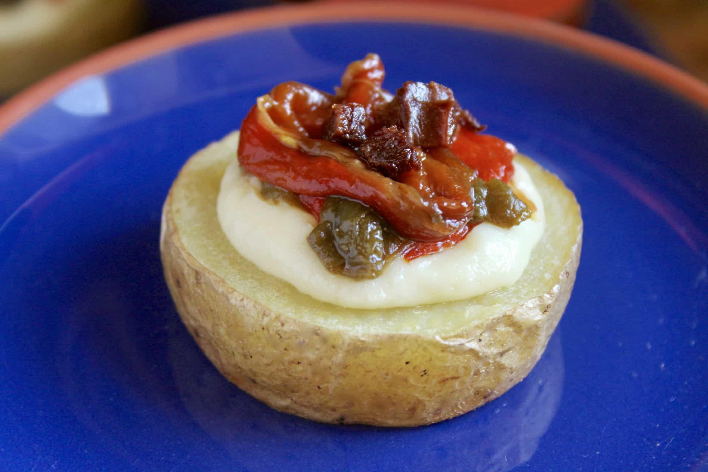 chorizo and potato with cheese