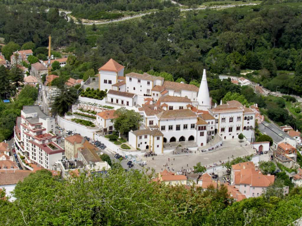 National Palace of Sintra, taken from the Moorish Castle