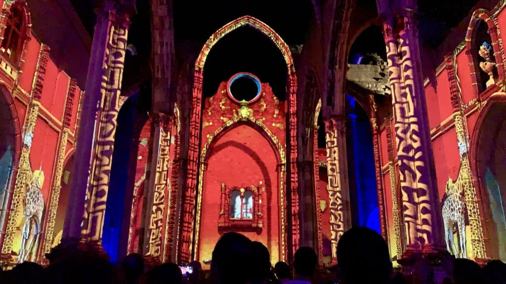 Lisbon Under Stars at the Carmo Convent