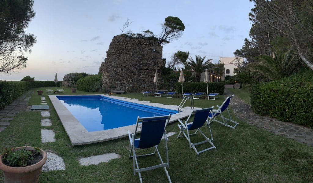 Swimming pool at Punta Licosa