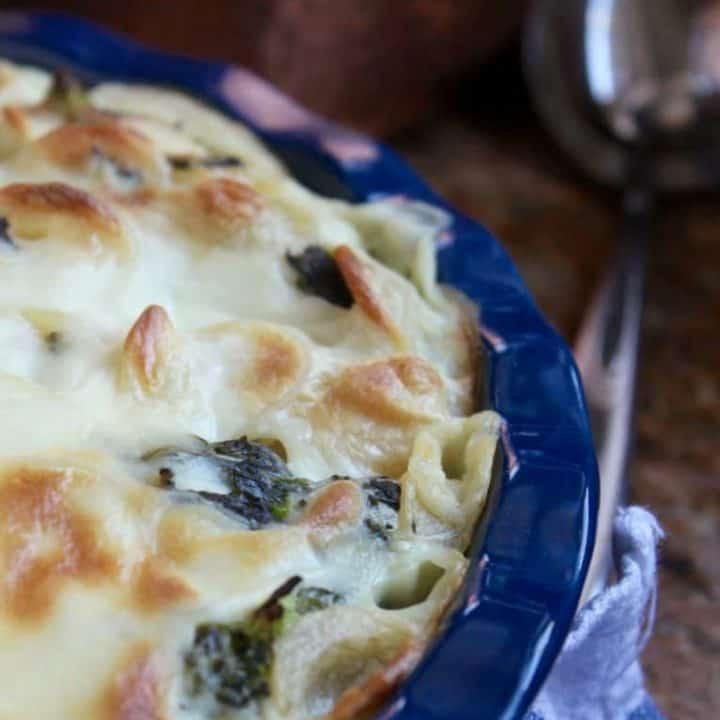 Rapini and Besciamella Orecchiette and a Lagostina Martellata Copper Pastaiola Giveaway for National Pasta Day!