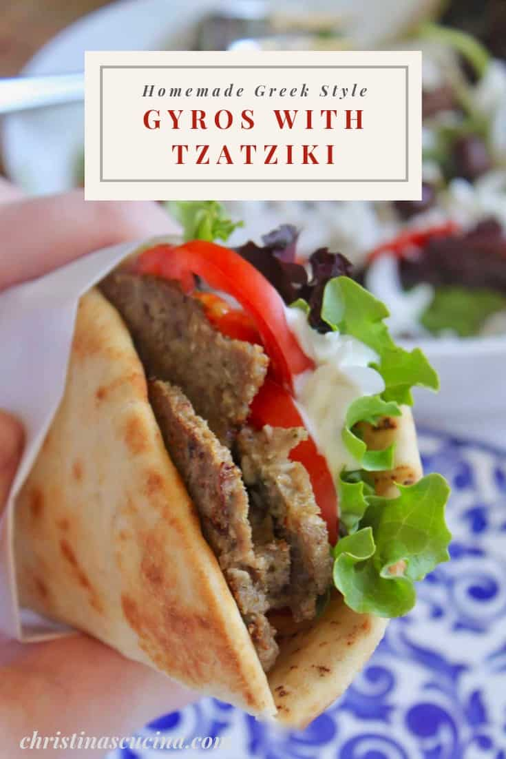 homemade Greek style gyros