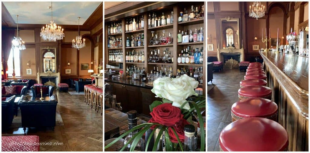 collage of the bar at luxury hotel in Basel