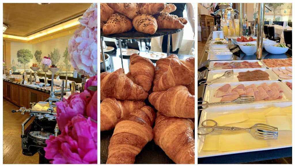 Breakfast at Les Trois Rois luxury hotel in Basel