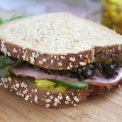 Kitchen Ham, Piccalilli and Cucumber Sandwich