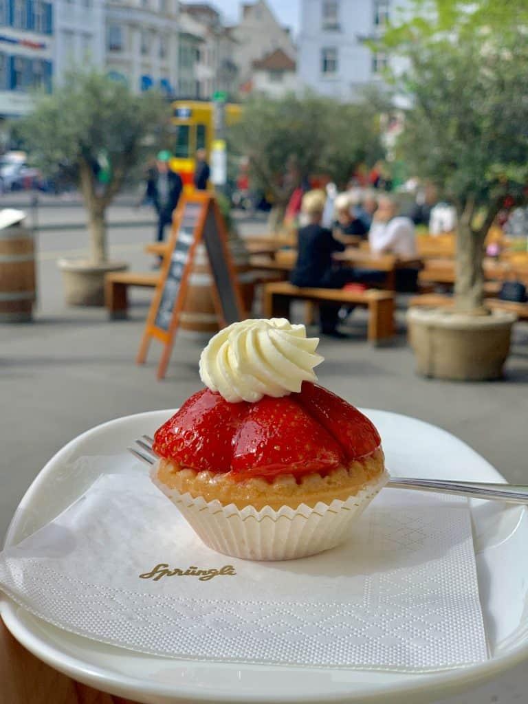 strawberry tart in Basel