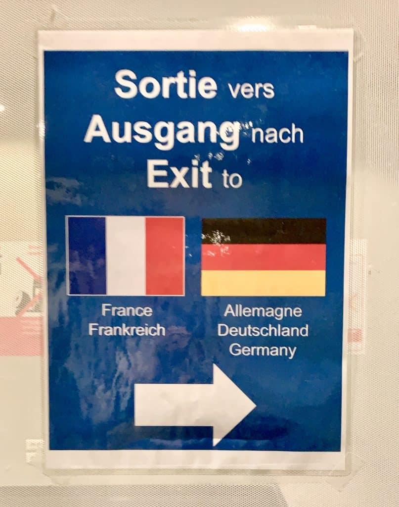 sign at the basel airport