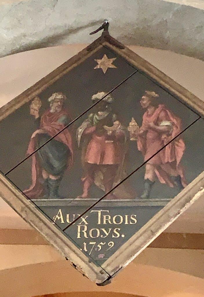 Les Trois Rois plaque luxury hotel in Basel