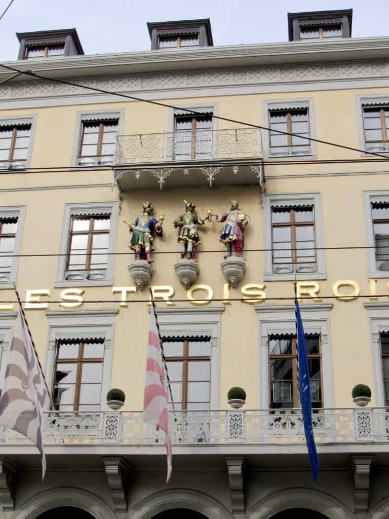 les trois rois luxury hotel in Basel
