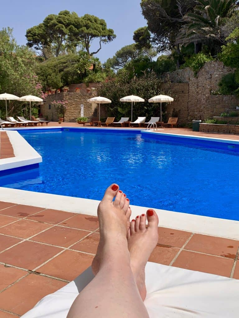 pool view Palazzo Belmonte