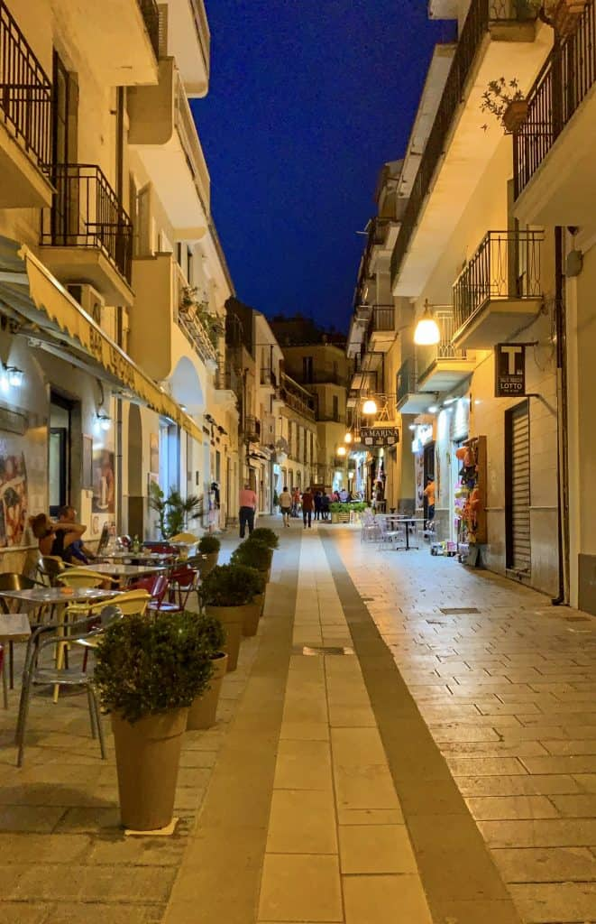 Santa Maria di Castellabate at night
