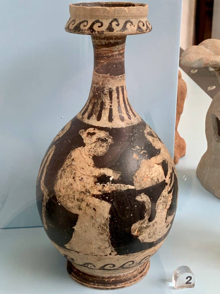 Greek jug in a museum