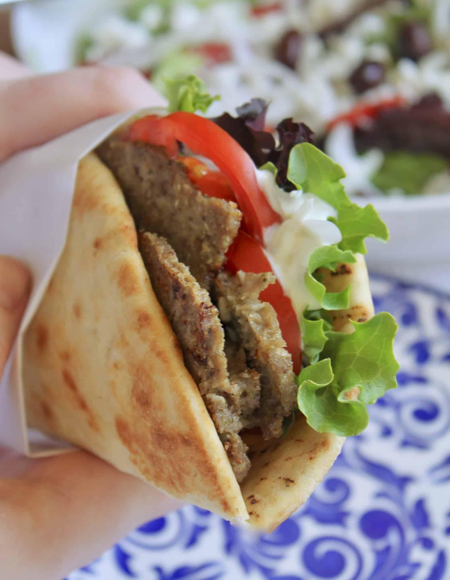 Homemade Greek Style Gyros With Tzatziki Sauce Christina S Cucina