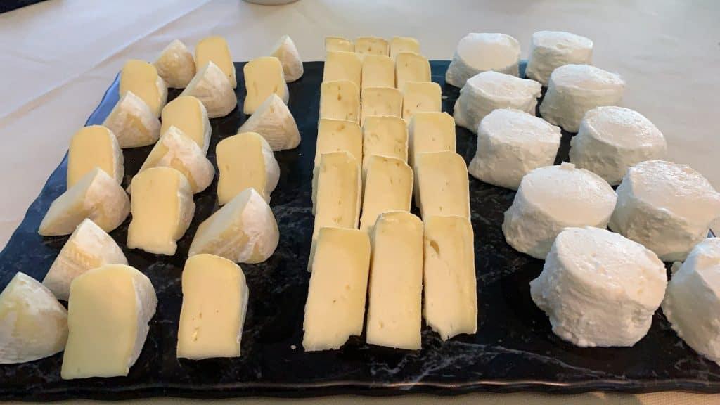 Cheese plate at la Porta delle Langhe