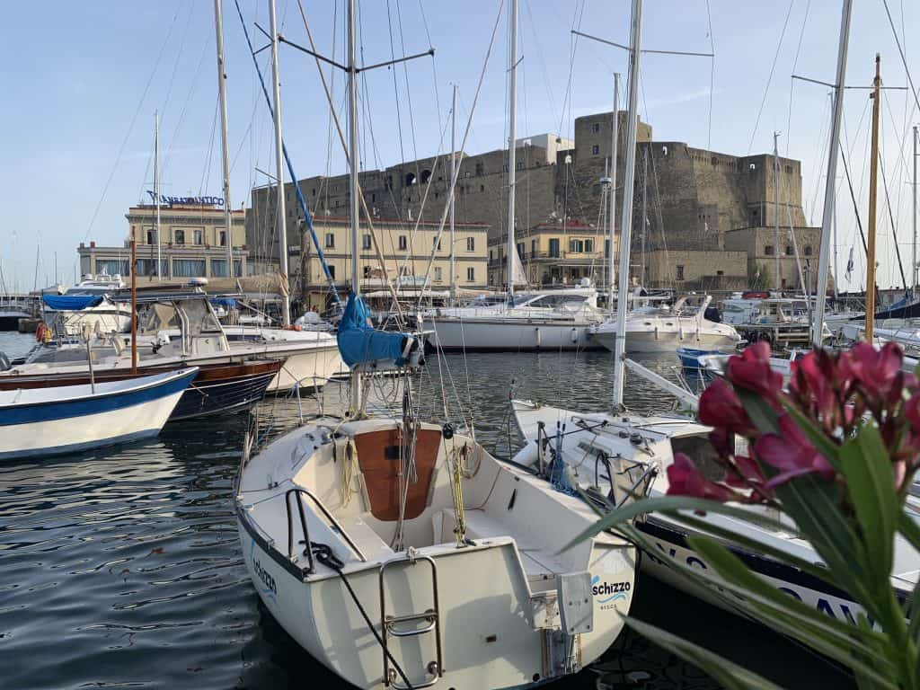 Naples harbor and Castel dell'Ovo