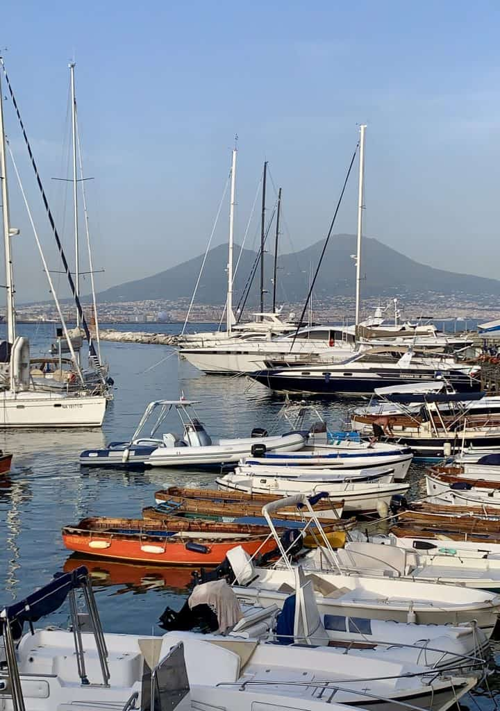 Naples view of Vesuvius