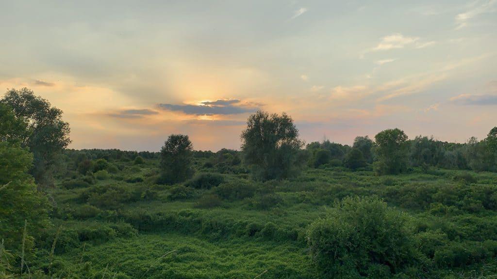 dusk at Antica Corte Pallavicina best relais in Emilia Romagna
