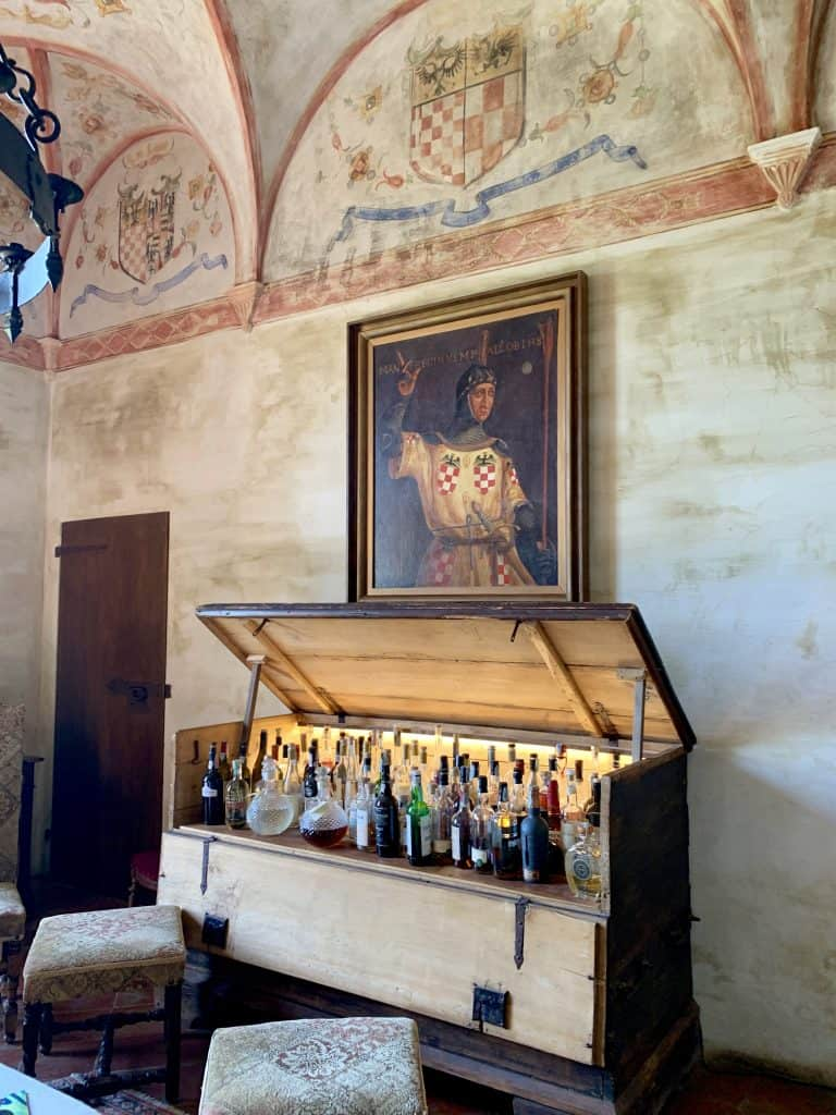trunk bar at Antica Corte Pallavicina