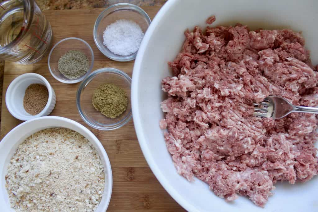 making homemade lorne sausage