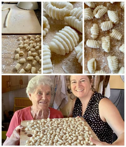 making gnocchi alla Sorrentina