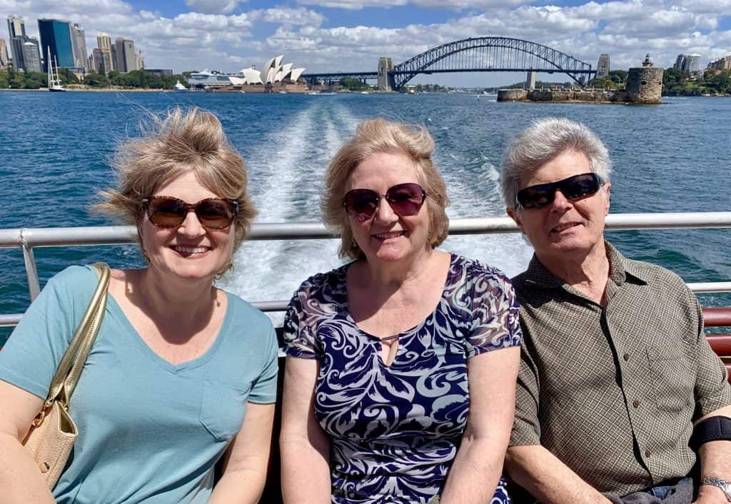 on a ferry in Sydney