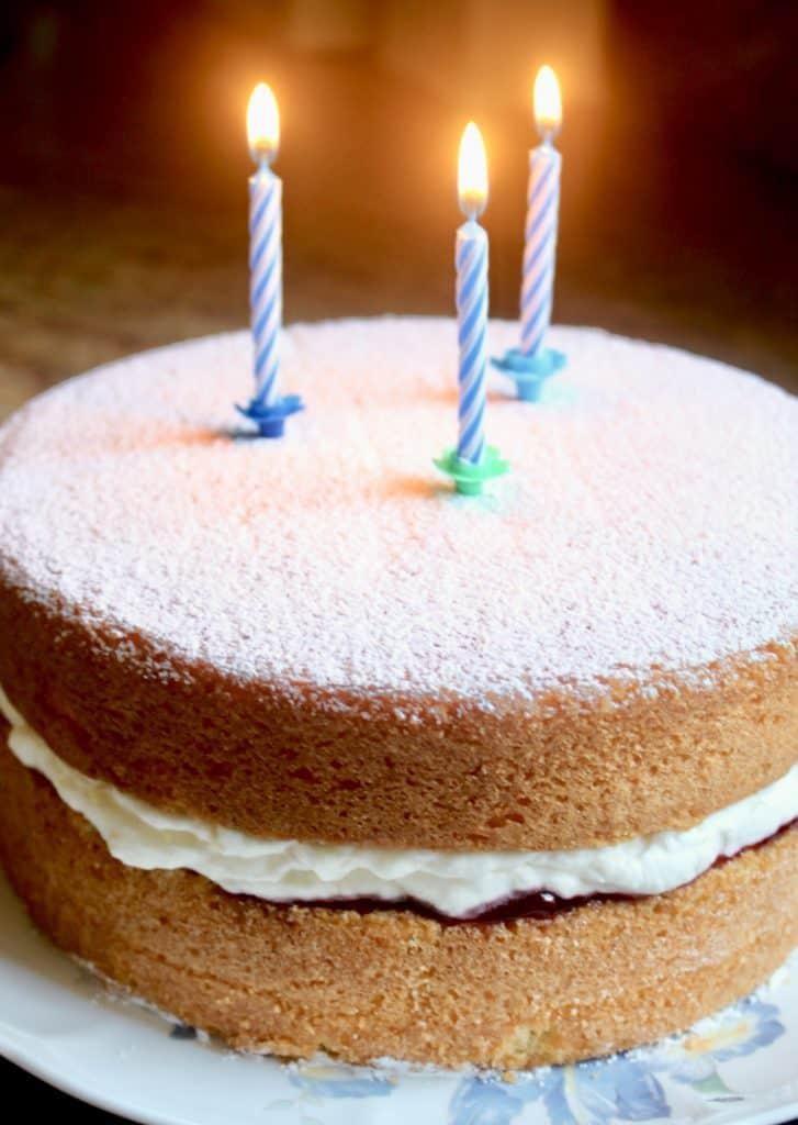 birthday Victoria sandwich