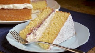 Victoria Sandwich, Traditional British Afternoon Tea Cake - Recipe for US Kitchens