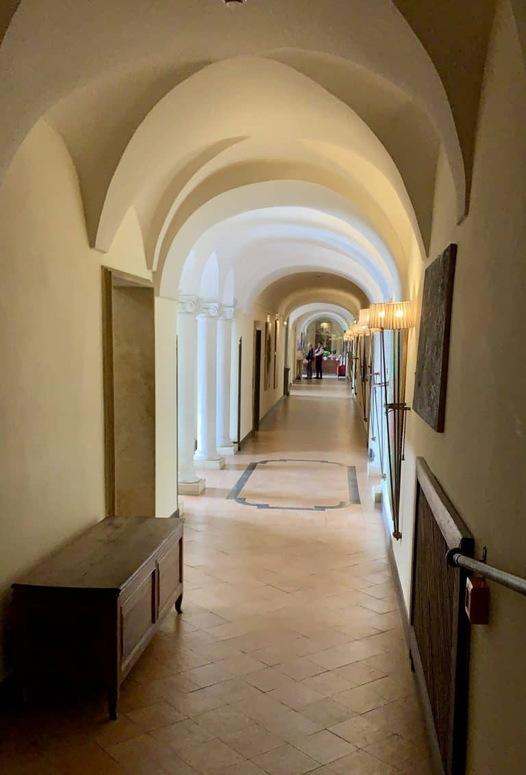 hallway at the hotel san francesco al monte