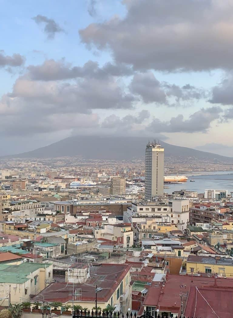 view of Vesuvius and Naples from Hotel San Francesco al Monte