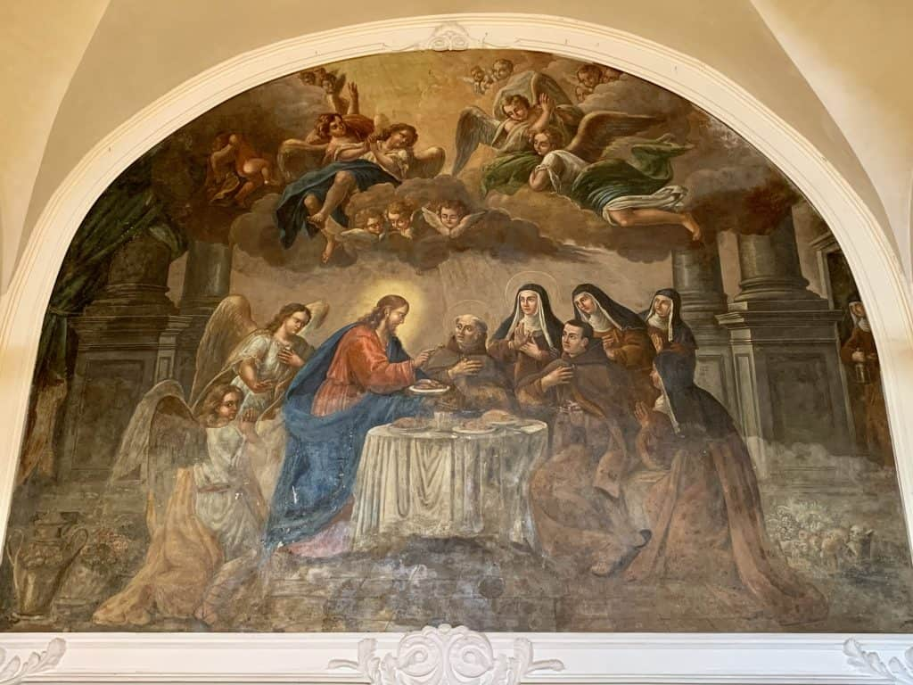painting in The Refectory in Hotel San Francesco al Monte