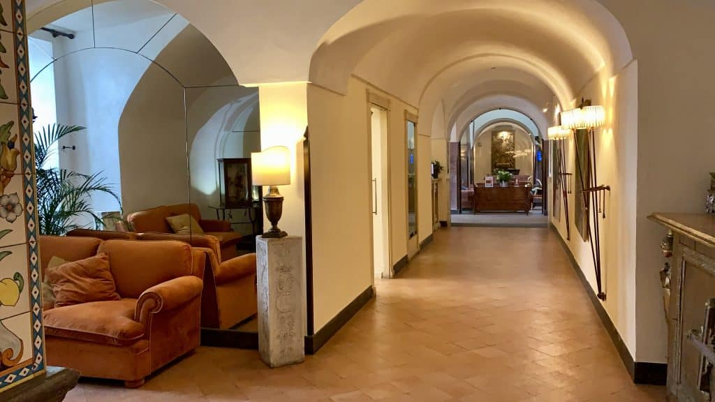 hallway at San Francesco al monte