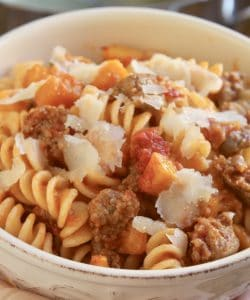 Fusilli with Pumpkin and Sausage