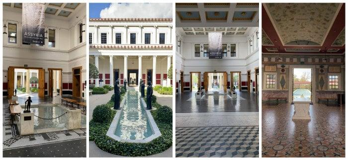 Getty Villa collage