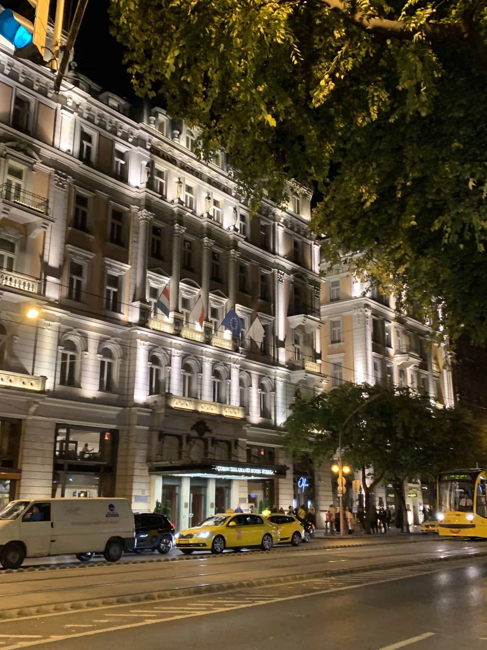 Corinthia Budapest at night