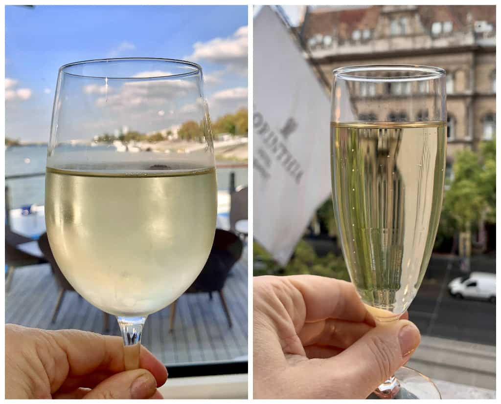 amawaterways wine and corinthia hotel champagne