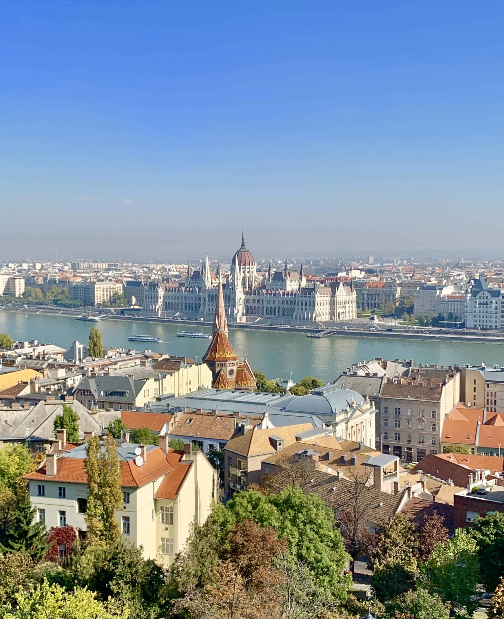 view of Danube and Budapest