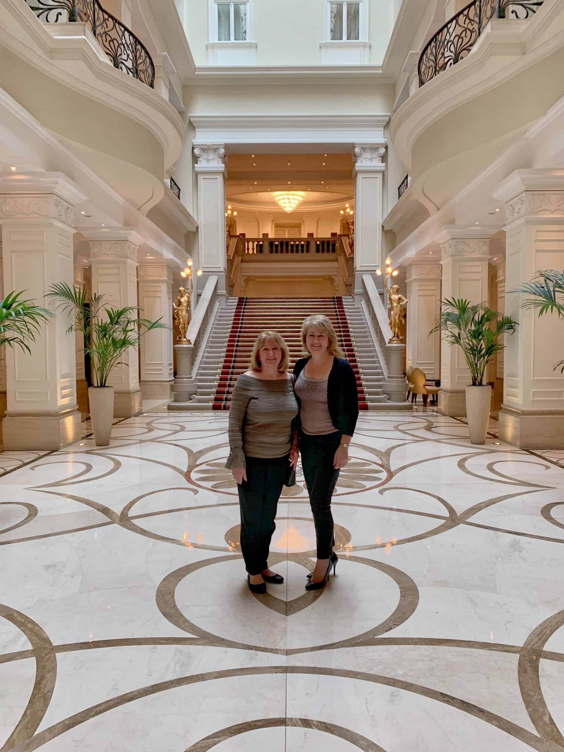 mum and me at the Corinthia Budapest Hotel