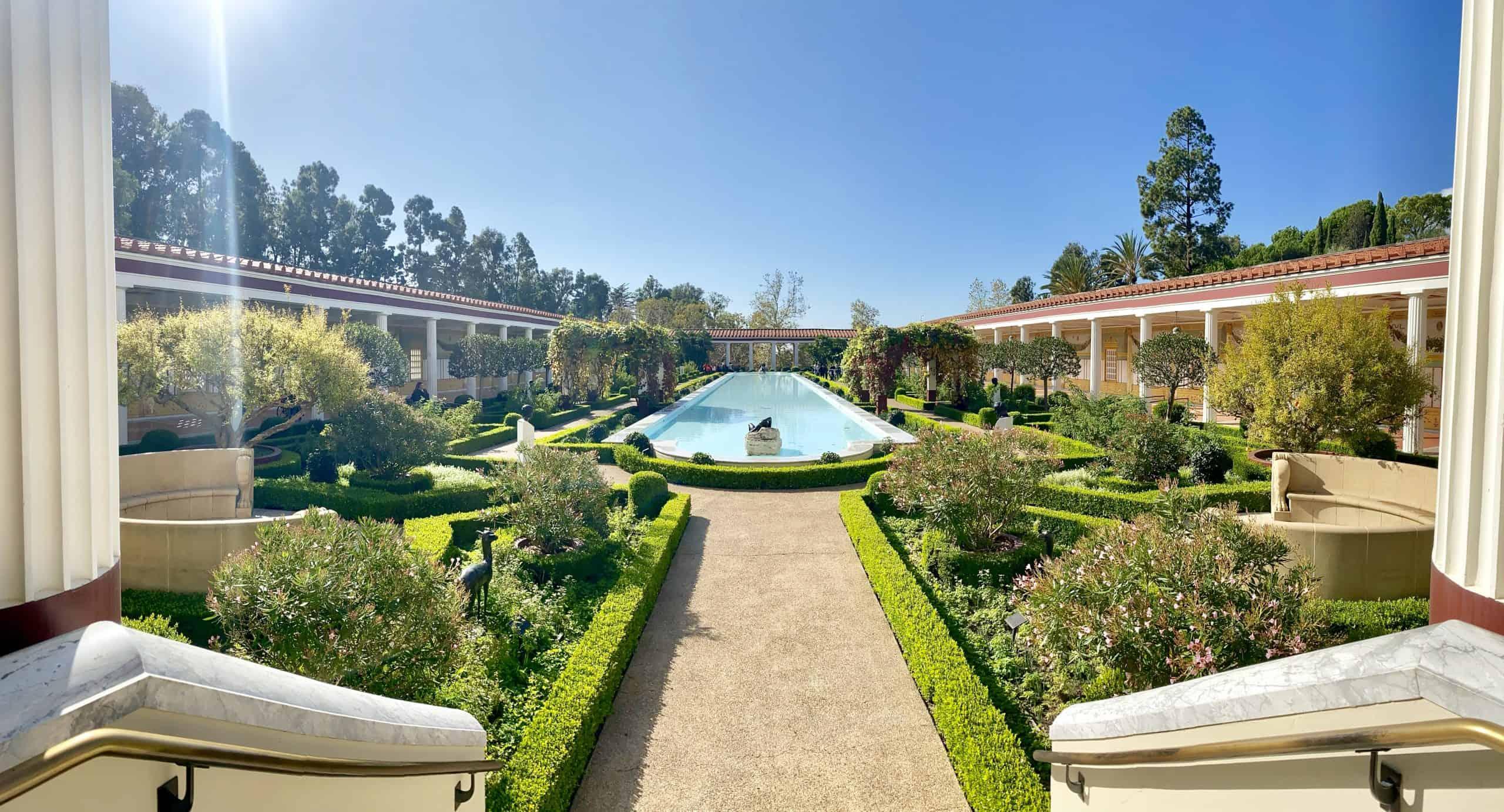 the Getty Villa panorama