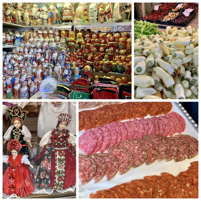 budapest market hall collage