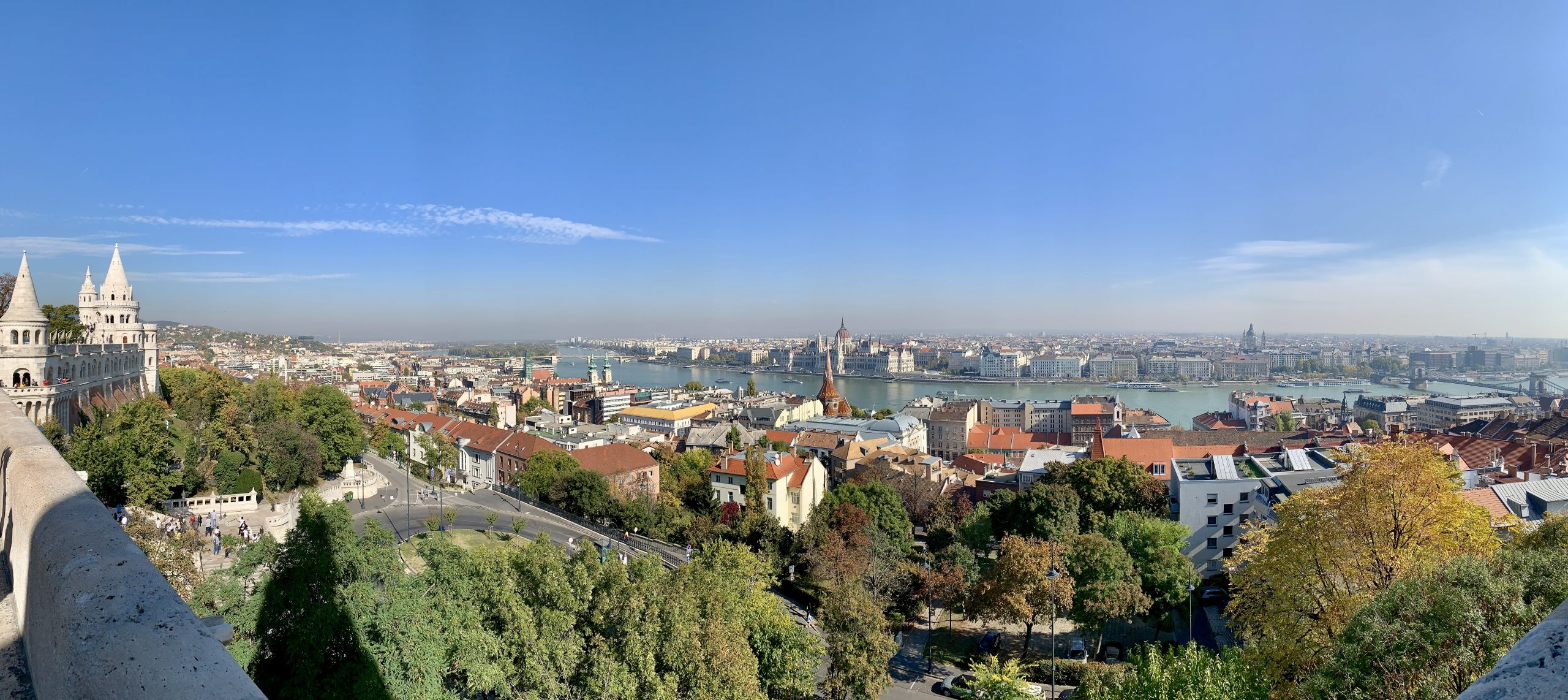 View of Danube and Pest before cruising the Danube River