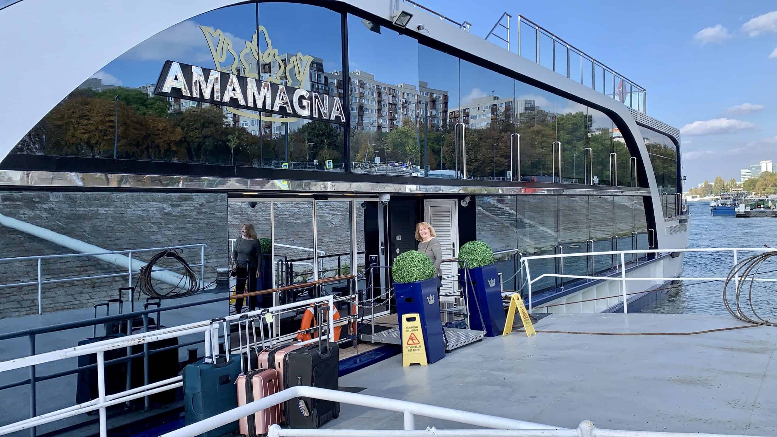 AmaMagna docked on the Danube best Danube river cruise