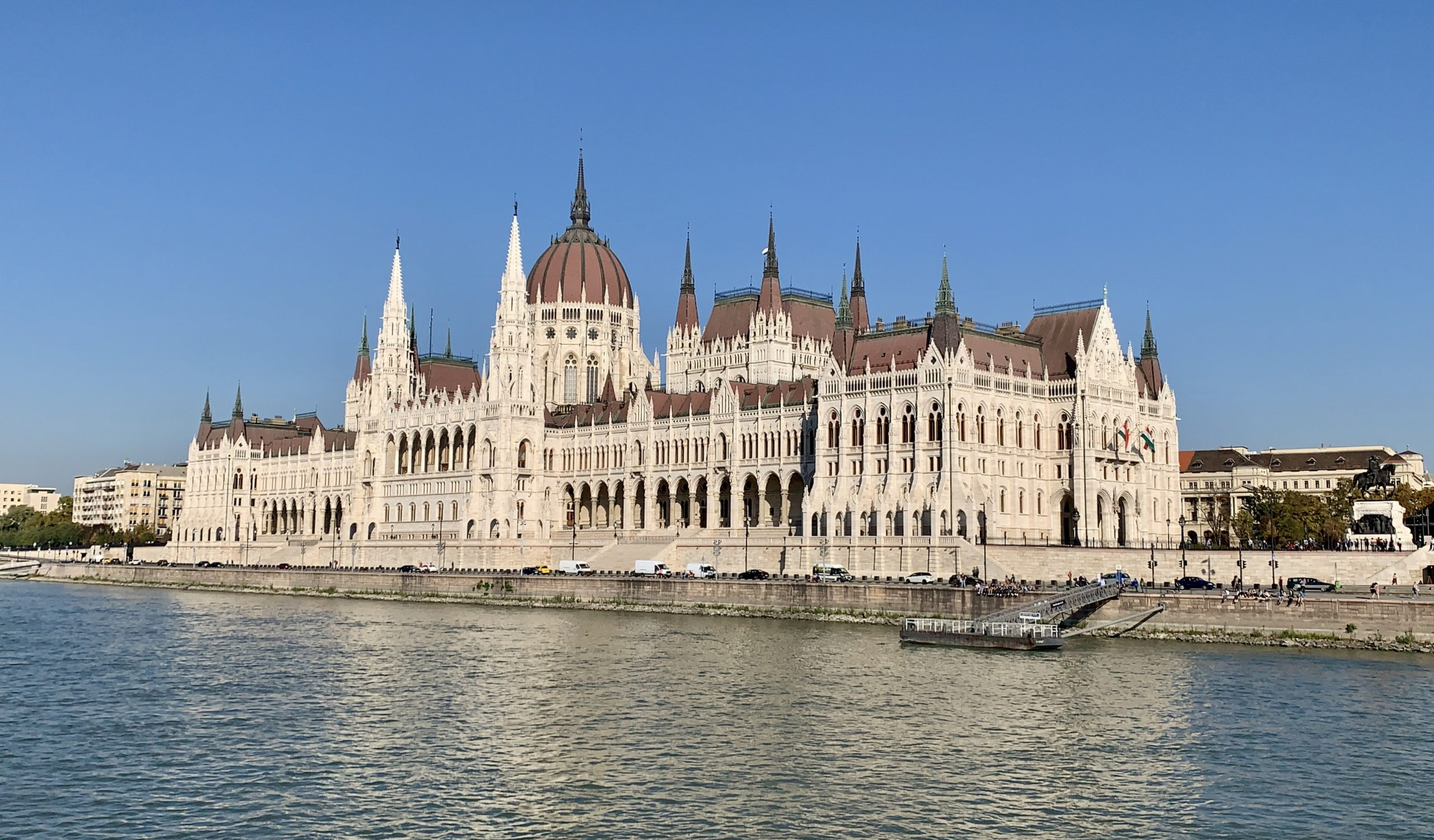 cruising the danube past the parliament building Budapest