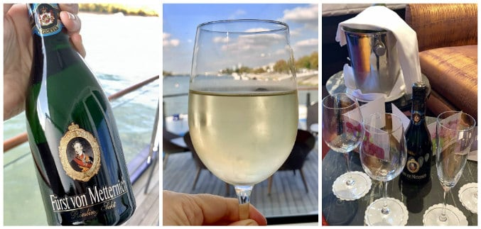 wine welcome onboard the AmaMagna best Danube river cruise