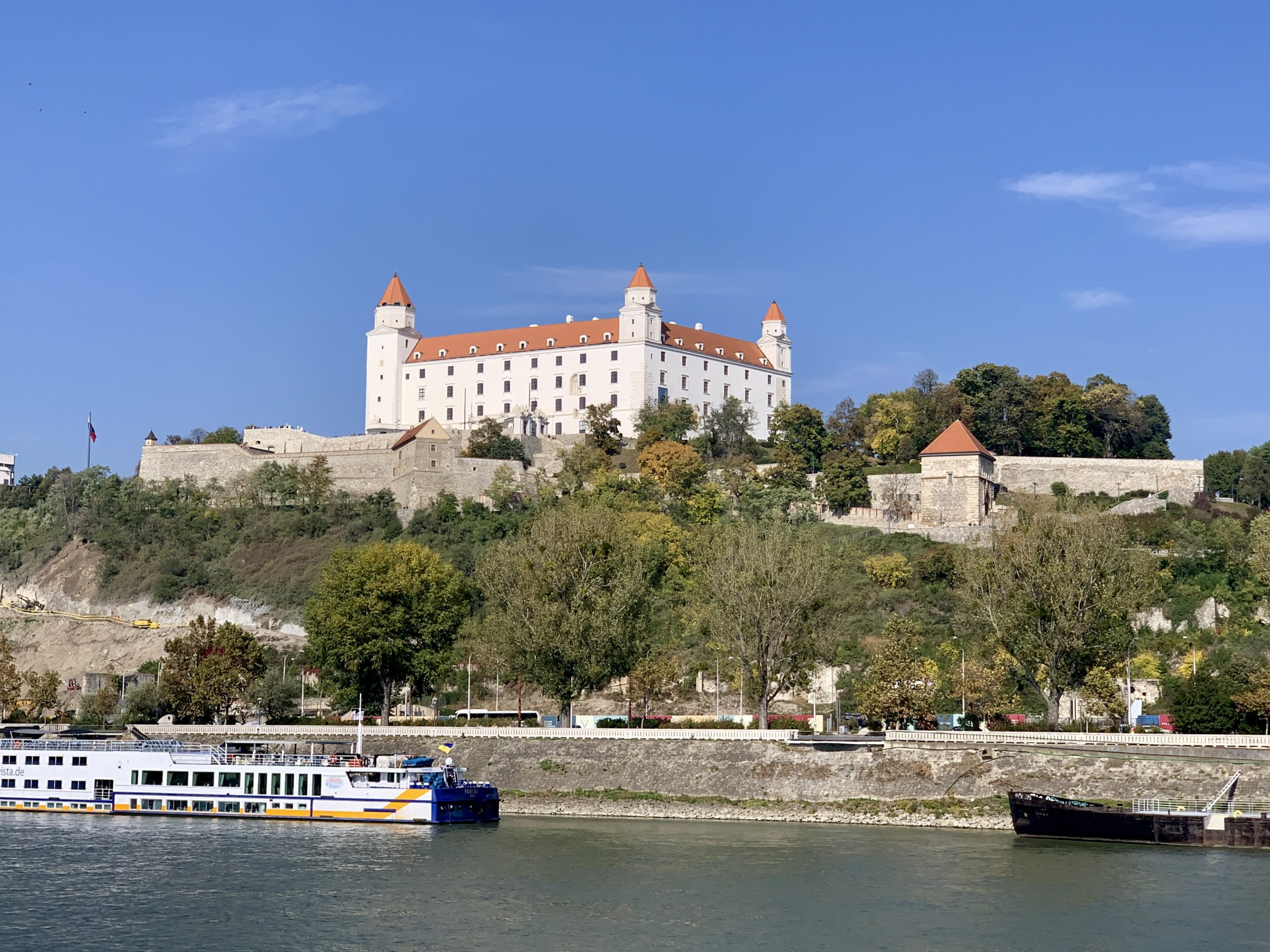 Bratislava view from the AmaMagna on the Melodies of the Danube river cruise