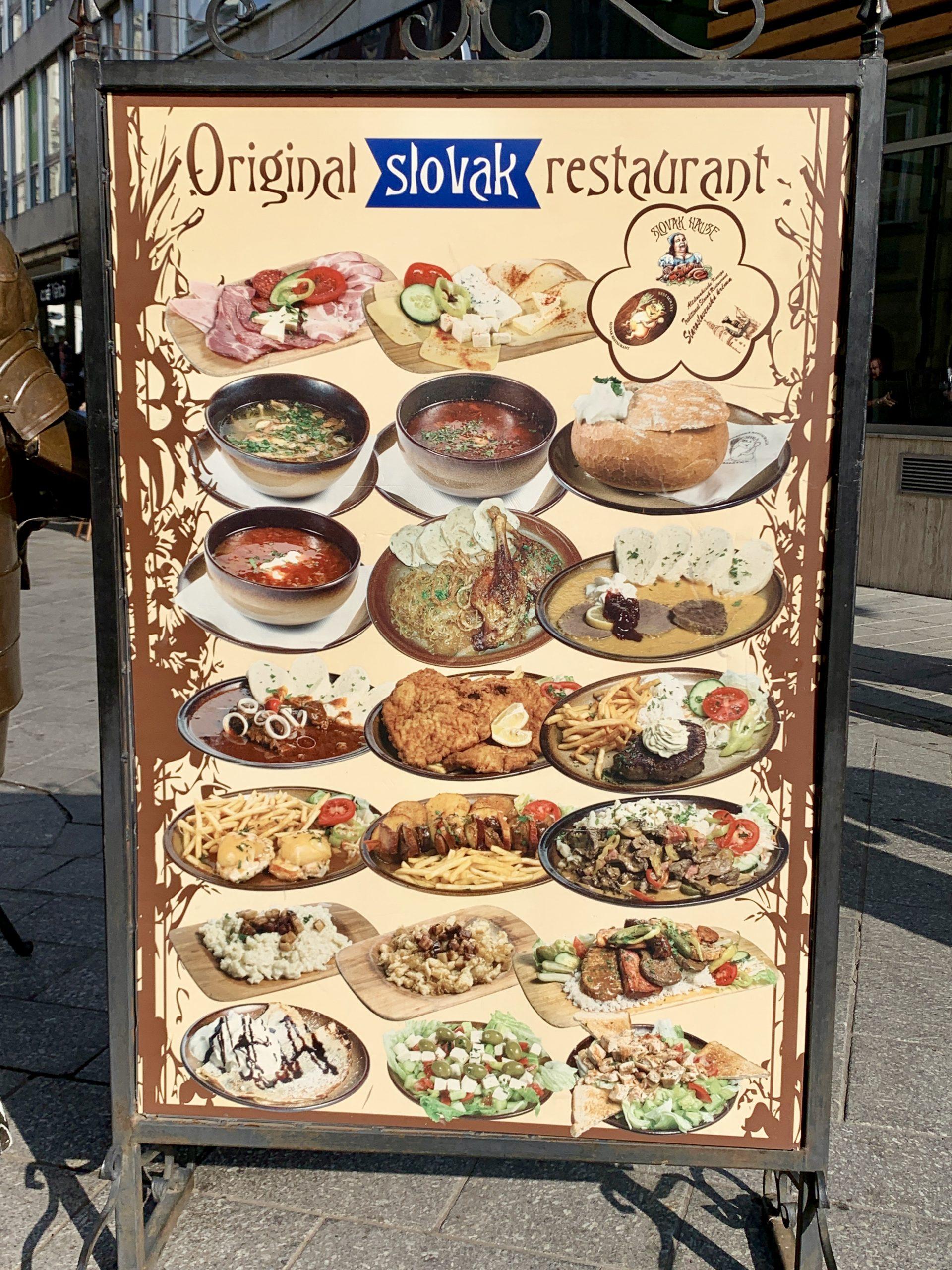 slovakian cuisine board