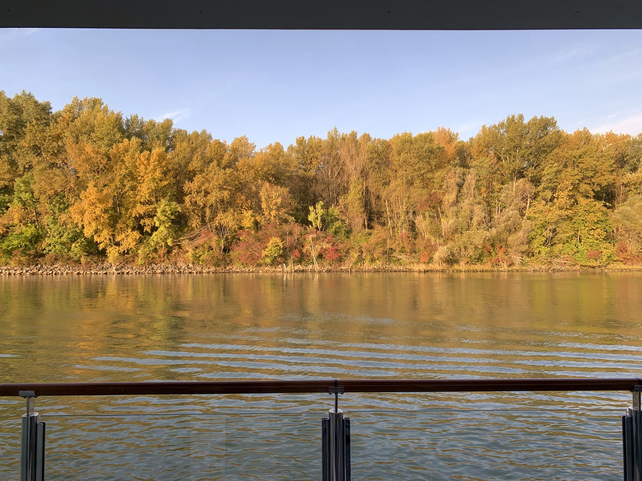 view from the AmaMagna on the Melodies of the Danube river cruise