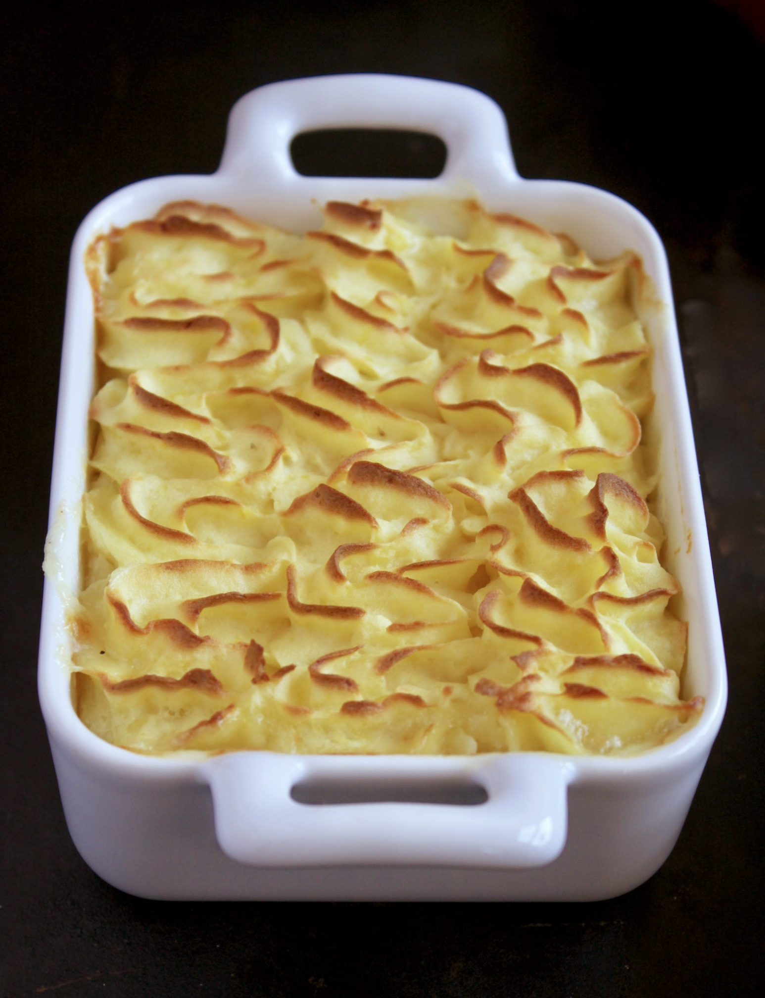 fish pot pie with leek