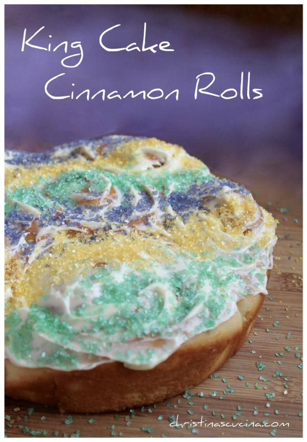 pin for king cake cinnamon rolls