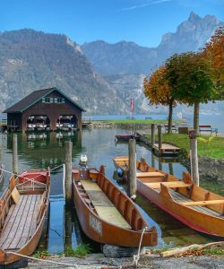 Austrian boats in the water by Christina Conte