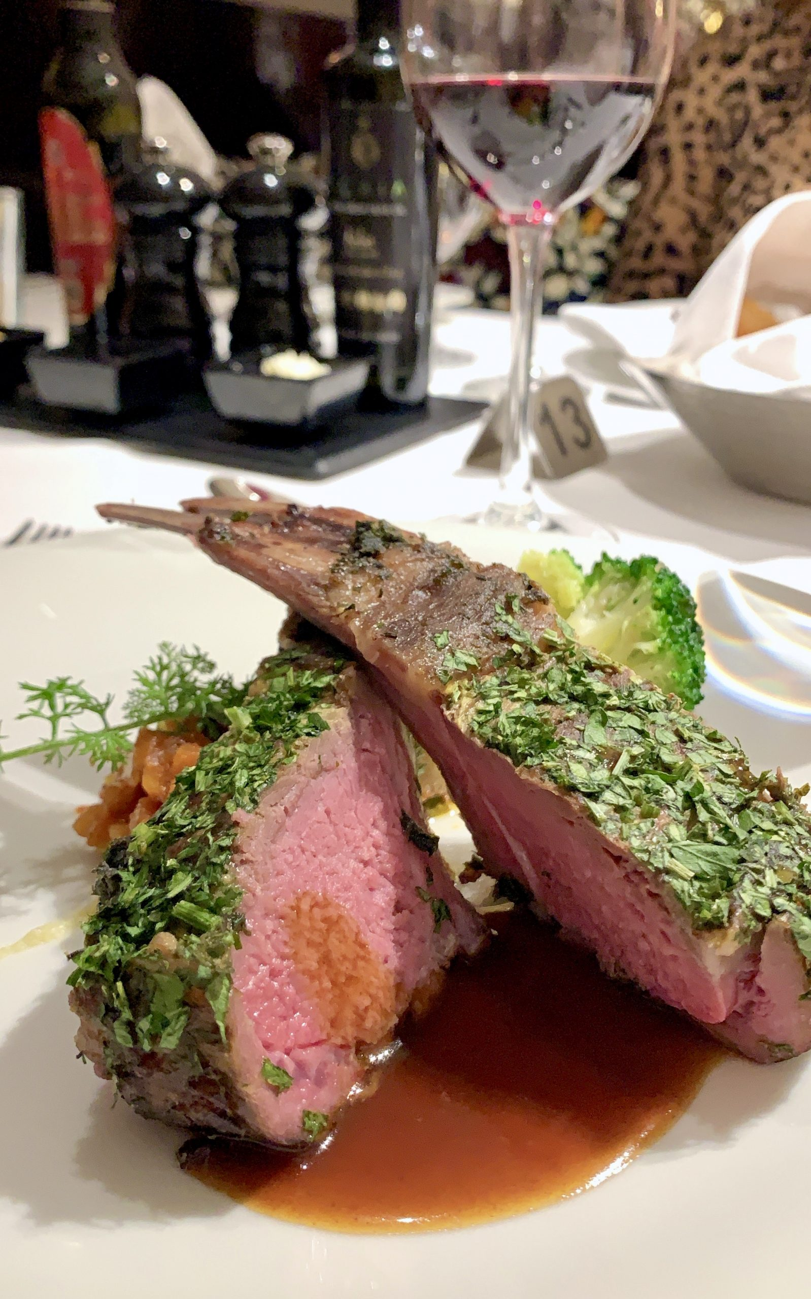 Chaine de Rotisseurs dinner lamb